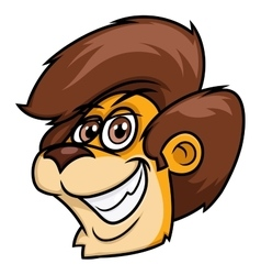Smiling lion head vector image vector image