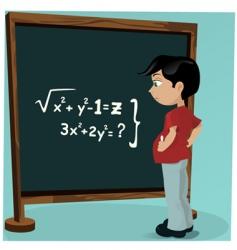 student blackboard vector image vector image