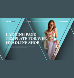 template gray-blue header for the site with vector image vector image