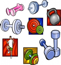 weights and dumbbell vector vector image vector image