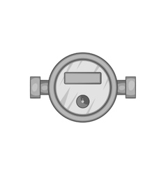 Water meter icon black monochrome style vector