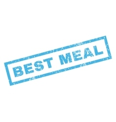 Best meal rubber stamp vector