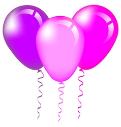 Pink and purple balloons vector