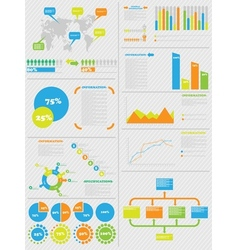 Infographic demographics 5 toy vector