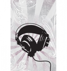 funky headphones vector image