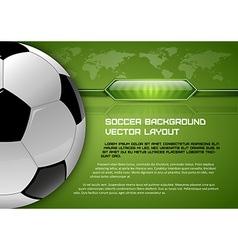 Football world green layout vector
