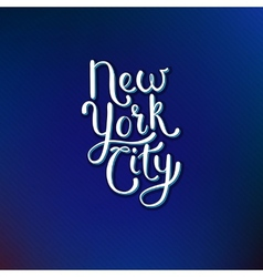 New york city concept on blue violet background vector