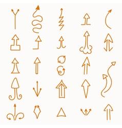 Hand drawn set of arrows vector image