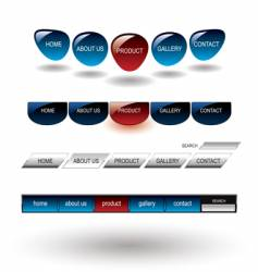 Editable glossy website buttons template vector