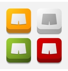 Square button trunks vector