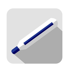 Icon of thermometer vector