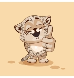 Leopard cub thumb up vector