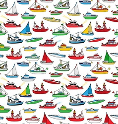 Colourful seamless marine pattern vector