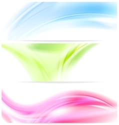 Abstract colorful wavy banners vector image
