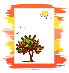 announcement form with tree vector image vector image