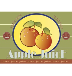 apple juice label vector image vector image