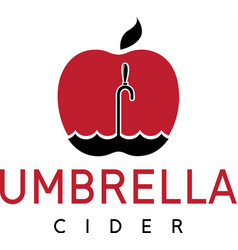 Cider with apple and umbrella vector