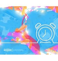 Creative alarm clock art vector