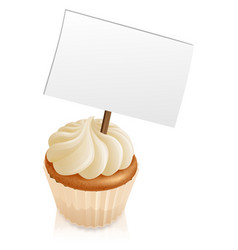 cupcake sign vector image