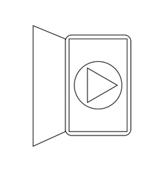 Ebook reader media player interface icon vector