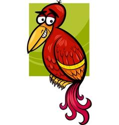 exotic bird cartoon vector image