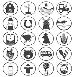 Farming icons collection vector
