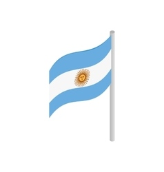Flag of argentina icon isometric 3d style vector