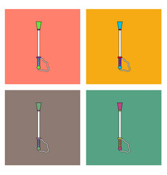 Flat icon design collection sex toy stick vector