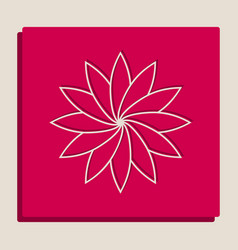 Flower sign grayscale version of popart vector
