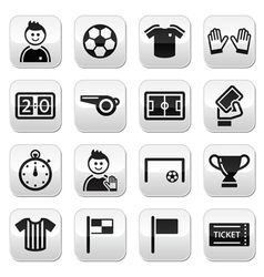 football buttons set vector image vector image