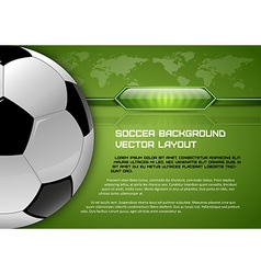 football world green layout vector image vector image