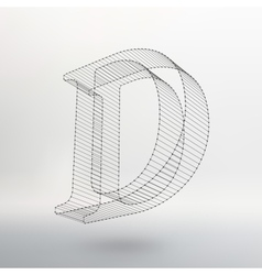 letter on white background vector image