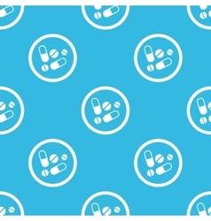Medicine sign blue pattern vector image