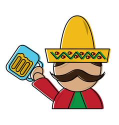 Mexico culture icon image vector