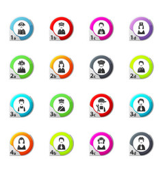 Occupation icons set vector