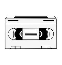 Old vhs media vector