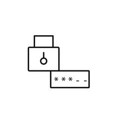 password lock icon vector image