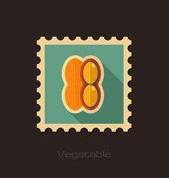 Peanut flat stamp vegetable vector