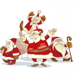 Santa Claus group vector image vector image