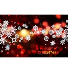 Snowflakes on abstract Christmas background vector image vector image
