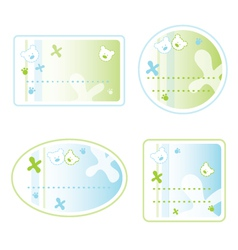 Teddy bear sticker labels vector