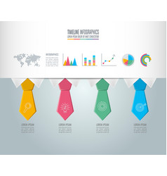 Timeline infographic business concept with 4 vector