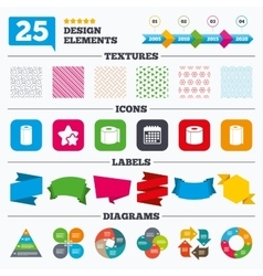 Toilet paper icons Kitchen roll towel symbols vector image vector image