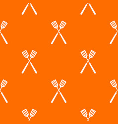 two metal spatulas pattern seamless vector image