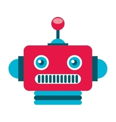 Robot electric avatar icon vector