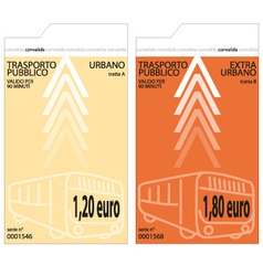 bus tickets vector image