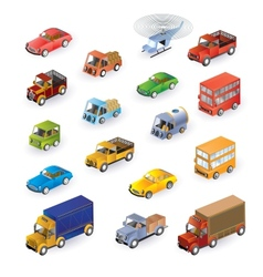 Isometric vehicles vector