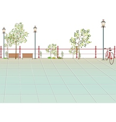 Park scene background vector