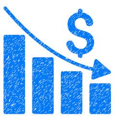 Recession grunge icon vector