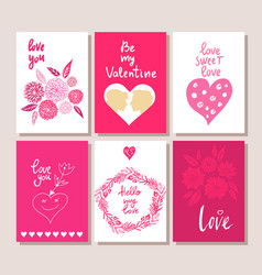 Set of gift cards vector